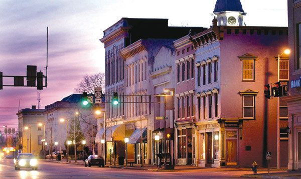 night time downtown danville